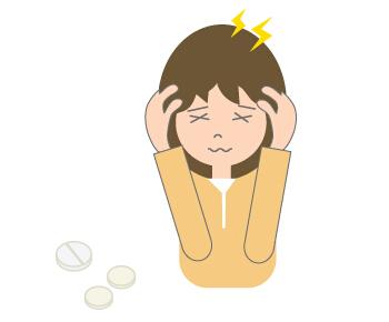 头痛可爱卡通图片